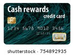 a cash rewards credit card is... | Shutterstock . vector #754892935