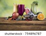 milk shakes  sport and fitness | Shutterstock . vector #754896787