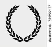 laurel wreath icon   sports... | Shutterstock .eps vector #754900477