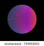 minimal vaporwave   synthwave... | Shutterstock .eps vector #754903051
