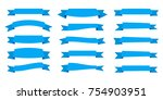 ribbon. flat vector ribbons... | Shutterstock .eps vector #754903951