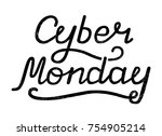 vector illustration of cyber... | Shutterstock .eps vector #754905214