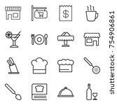 thin line icon set   shop ...   Shutterstock .eps vector #754906861