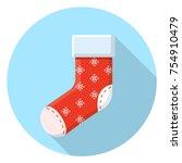 christmas sock icon | Shutterstock .eps vector #754910479