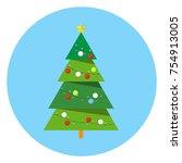 christmas tree vector | Shutterstock .eps vector #754913005