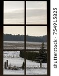 view of a snowed rural... | Shutterstock . vector #754915825
