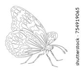 icon of butterfly silhouette on ...   Shutterstock .eps vector #754919065