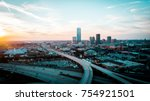 downtown oklahoma city | Shutterstock . vector #754921501