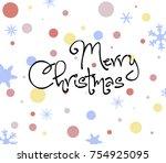 christmas greeting pattern | Shutterstock .eps vector #754925095