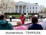 washington  dc  usa   april 4 ... | Shutterstock . vector #75493156