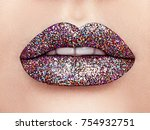 close up view of beautiful... | Shutterstock . vector #754932751