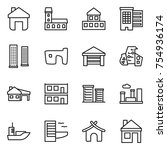 thin line icon set   home ...   Shutterstock .eps vector #754936174