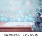 christmas and new year concert... | Shutterstock . vector #754942255