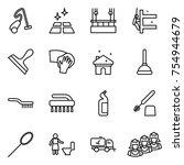 thin line icon set   vacuum... | Shutterstock .eps vector #754944679