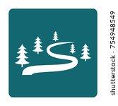 ski route icon for winter... | Shutterstock .eps vector #754948549