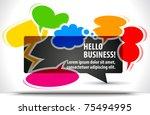 shiny vector bubbles for speech ... | Shutterstock .eps vector #75494995
