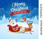 Santa Claus Landing With His...