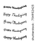 thanksgiving typography hand... | Shutterstock .eps vector #754952425