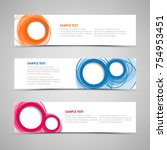 collection banners with...   Shutterstock .eps vector #754953451