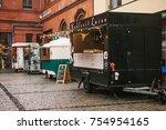 berlin  october 1  2017  cozy... | Shutterstock . vector #754954165