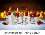 third sunday in advent concept... | Shutterstock . vector #754961824