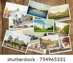 collage france paris. selective ... | Shutterstock . vector #754965331