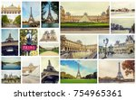 collage france paris. selective ... | Shutterstock . vector #754965361