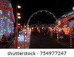 koziar's christmas village... | Shutterstock . vector #754977247