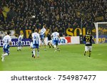 Small photo of SOLNA SWEDEN - OCT 30, 2017: Soccer player in the game AIK and IFK Gothenburg nick the ball. October 30 2017,Solna,Sweden