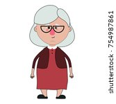 grandmother cartoon design | Shutterstock .eps vector #754987861
