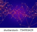 futuristic polygonal background ... | Shutterstock . vector #754993429