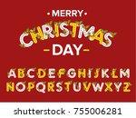 vector of modern stylized font...   Shutterstock .eps vector #755006281