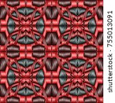 embroidery colorful pattern... | Shutterstock .eps vector #755013091