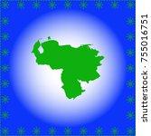 map of venezuela | Shutterstock .eps vector #755016751