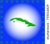 map of cuba | Shutterstock .eps vector #755016829