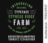 cypress ridge farm. hand made... | Shutterstock .eps vector #755019937