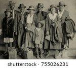 african american extended... | Shutterstock . vector #755026231