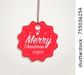 merry christmas everyone badge | Shutterstock .eps vector #755036254