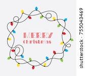 christmas card. vector clipart... | Shutterstock .eps vector #755043469