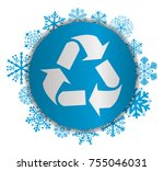 recycling christmas icon | Shutterstock .eps vector #755046031
