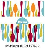 restaurant menu card | Shutterstock .eps vector #75504679