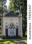 mausoleum in dierdorf westerwald   Shutterstock . vector #755051347