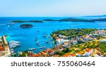 aerial panoramic view at... | Shutterstock . vector #755060464