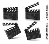 cinema clap. vector illustration | Shutterstock .eps vector #755065801