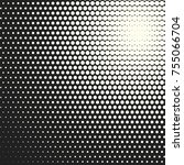 halftone dots. vector black and ... | Shutterstock .eps vector #755066704