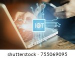 internet of things  iot ... | Shutterstock . vector #755069095