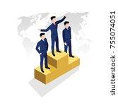 isometric illustration  the... | Shutterstock .eps vector #755074051
