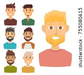 character of various... | Shutterstock .eps vector #755080615