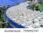 conveyor line carrying... | Shutterstock . vector #755092747