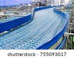 empty conveyor belt of... | Shutterstock . vector #755093017